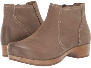 Dansko Barbara Taupe Burnished Nubuck Boot - NEW - Choose Size