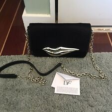 Diane Von Furstenberg Black Fur Clutch Bag