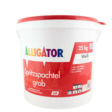 (1,52€/ Kg)Alligator Spritzspachtel grob LEF Hobbock 25kg, weiß
