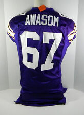 2011 Minnesota Vikings Adrian Awasom #67 Game Issued Purple Throwback Jersey