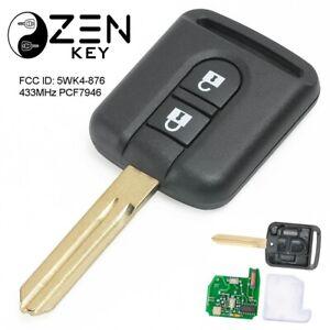 Nissan MICRA NAVARA QASHQAI NOTE PATHFINDER 2Btn Remote Car Key Fob 433 ID46 k12