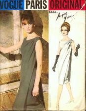 Vintage 60's VOGUE PARIS ORIGINAL 1333 JAQUES HEIM EVENING DRESS Sewing Pattern