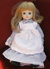 PrettyVictoria style doll .Long blonde hair Soft body porcelain head ,arms  15in