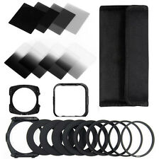 13in1 ND2 4 8 16 Square filter kit for Cokin P+filter Holder+Hood+Adapter Rings