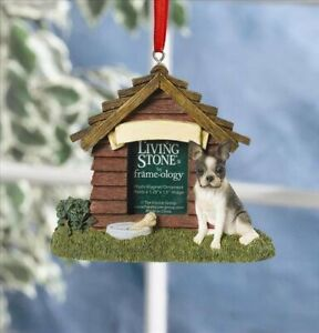 Living Stone Dog House Photo Magnet Ornament-Boston Terrier
