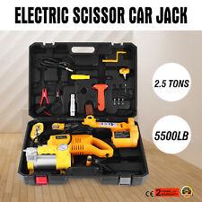 2.5 Ton Automotive Electric Scissor Car Jack Lift Wrench 12V DC Car Floor Jack