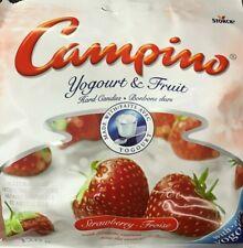 CAMPINO YOGOURT & FRUIT - 120g x4 BAGS - STRAWBERRY FLAVOUR HARD CANDIES