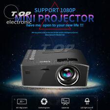 UC18 Mini Portable Projector Screen LCD Projektor 1080P Home LED AV with DVD