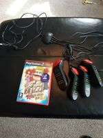 Playstation 2  Buzz Controllers / Buzzers  and Buzz The Music Quiz game. VGC
