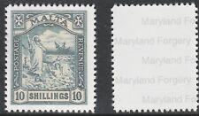Malta 7770 - 1919 SHIPWRECK 10s black - a Maryland FORGERY unused