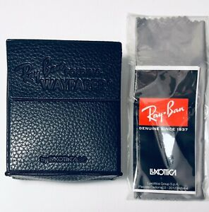Ray Ban RB2140 RB2176 Foldable Case W/Cloth For Wayfarer Clubmaster Authentic