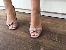 Auth Azzedine Alaia Heels 👡 Suede 38 39 Stiletto Peep Toe Peeptoe Sexy Classic