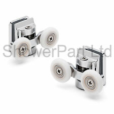 2 x Twin Top Shower Door Rollers / Runners 23mm Wheel DIA 8mm glass L067