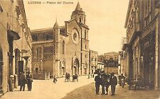 5487) LUCERA (FOGGIA) PIAZZA DEL DUOMO, ANIMATA. CARROZZE. VIAGGIATA IL 4/9/1923