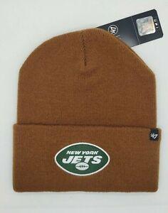 New York Jet's Carhartt Mens Brown Cuff Knit Winter Hat cap toboggan new NFL