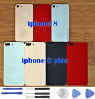 For iPhone 8 / 8 Plus Rear Glass Back Battery Cover Replacement + Camera Lens DL