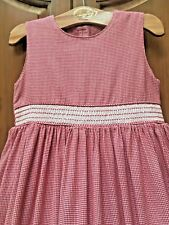 Strasburg Boutique Red White Houndstooth Cotton Smocked BTS Dress 8 9