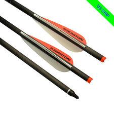 "6X 20""Archery Crossbow Bolts Carbon Arrows Hunting Moon Nocks Easton Vanes"