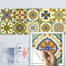 20 PCS YELLOW MOROCCAN TRANSFER SELF-ADHESIVE BATHROOM KITCHEN WALL TILE STICKER