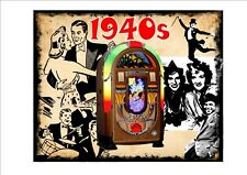 JUKEBOX 1940s Stile Vintage Segno Muro Placca SINATRA Jive segno Cappello Segno