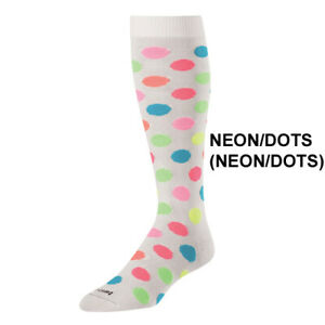 Twin City Krazisox White/Neon Polka Dots - Over-Calf Sock Softball / Lifestyle