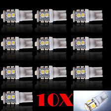 10 x Pure White 10 SMD LED T10 194 921 W5W 1210 RV Landscaping Light Lamp Bulbs