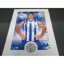 NORTH MELBOURNE KANGAROOS ANDREW SWALLOW SIGNED AFL HERO SHOT PRINT ONLY