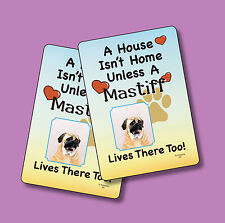 """""""Mastiff"""" A House Isn't Home - A Pair Of Dog Lover Cards - Sku# 63"""