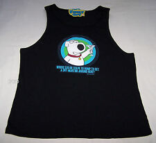Family Guy Brian Mens Black Printed Singlet / Tank Top Size L New
