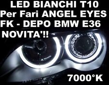 LED W5W T10 BIANCO 12V 7000K ANGEL EYES BMW E36 DEPO FK