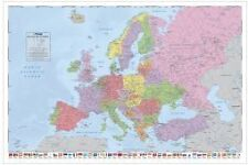 POLITICAL MAP OF EUROPE WALL POSTER EUROPEAN PP32113