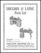 Sheldon 11 Inch Lathe Parts Manual