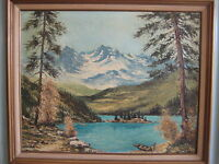 Vintage Original Oil Painting On Canvas With Wooden Frame, Signed By Hauff '71
