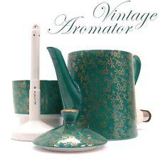 AROMATOR Espressomaschine Keramik antike Kaffeemaschine Porzellan grün golden