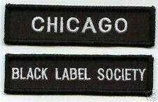 BLACK LABEL SOCIETY FAN MEMBER CLUB CITY PATCH SET: BLS CITY FAN CHICAGO