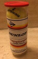 Rare Vintage Original K-Swiss Dunlop Tennis Balls 3 Sealed Can