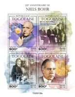 Togo Science Stamps 2020 MNH Niels Bohr Physics Nobel Prize Famous People 4v M/S
