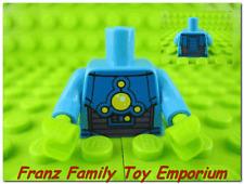 New LEGO Minifig Torso Azure Blue 5 Yellow Lights Lime Hands Alien Body Part
