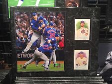 Chicago Cubs 12x15 PLAQUE 8X1O PHOTO 2 Cards 2016 World Series Rizzo Russell