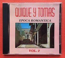 Quique Y Tomas Epoca Romantica V2 CD CANAL 1991 Puerto Rico