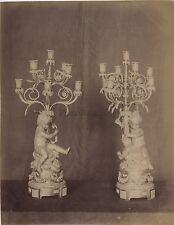 Compiègne Candélabre France Vintage Albumine ca 1880