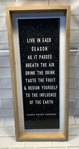 """Wall Decor Wood Plaque - Wall Sign, """" Live In Each Season """" Home Decor Brand New"""