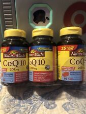 NatureMade CoQ10 200mg Softgels 80 Count Supplement Heart Function. Exp 1/2022