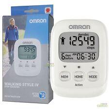OMRON Walking Style IV esercizio passo CALORIE COUNTER Monitor attività PEDOMETER