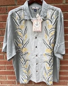 $110 TOMMY BAHAMA MENS FUN FOR THE BORDER HAWAIIAN 100% SILK ALOHA CAMP SHIRT XL