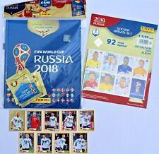 Panini World Cup 2018 hardcover album + set 9 stickers Mc Donalds + set updates
