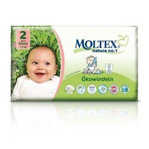 3er Pack 126 St MOLTEX Nature No1 Peanuts Öko Babywindeln MINI Gr 2 (3-6 kg)3x42
