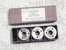Set of 3 Index plates #30, 36, 40 For Use On Unimat DB SL Mini Lathe, Ref #1260K
