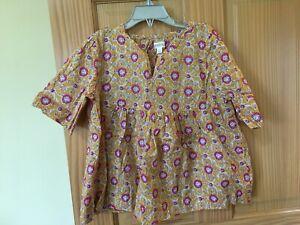 NWT Gymboree Girl Flower Floral Cotton Shirt Top Girls Mustard
