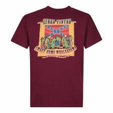 Weird Fish Men's Lynrd Finyrd Artist T-Shirt, Dark Wine, Medium